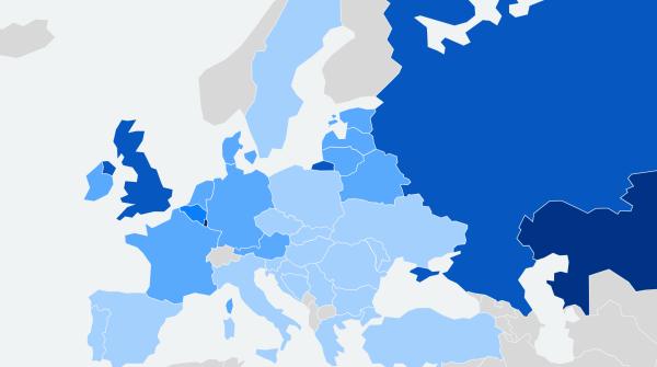 Рейтинг стран по доступности природного газа для населения - 2021
