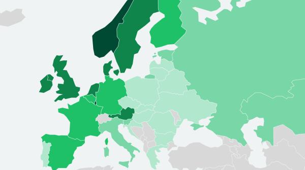 Рейтинг стран Европы по доступности бензина в середине 2021 года