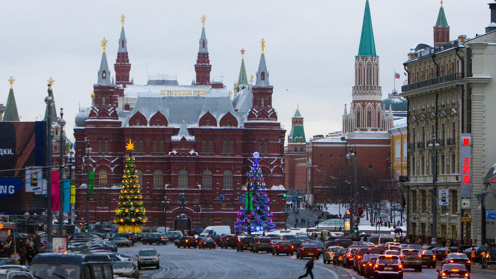 Новогодние виды Москвы