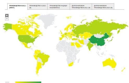 Рейтинг стран по производству стали