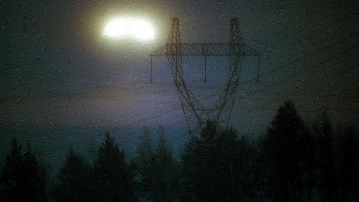 Линия электропередач в Иркутской области