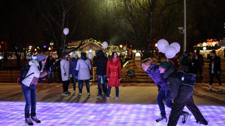 Открытие Центрального катка в Парке Горького