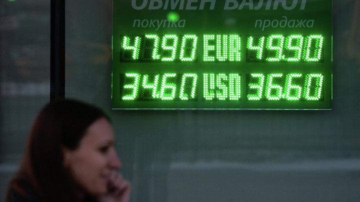 Курс доллара упал ниже 35 рублей