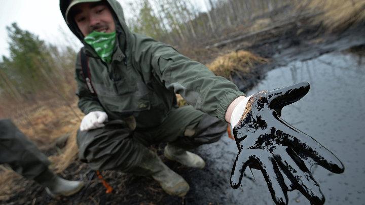 Разливы нефти на Мамонтовском месторождении в ХМАО