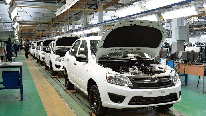 Сборка автомобилей Lada Granta на автозаводе в Чечне