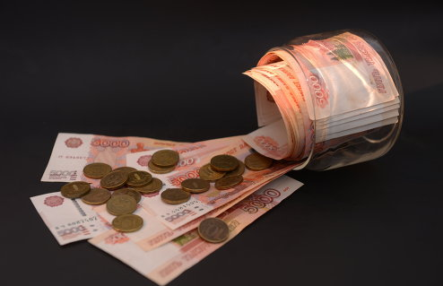 Денежные купюры и монеты России