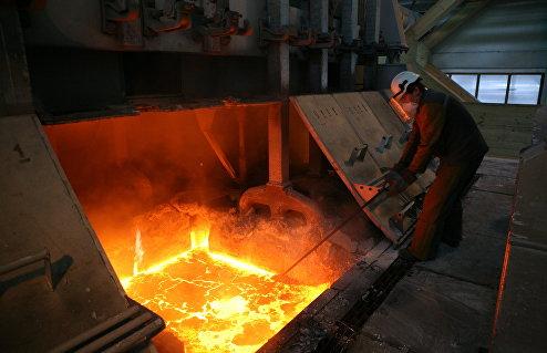 Производство алюминия на заводе РУСАЛ
