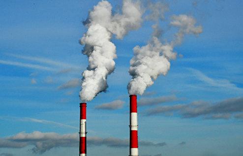 Трубы теплоэлектроцентрали.