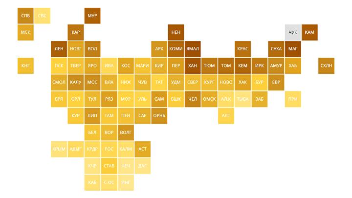 Рейтинг регионов по доступности покупки семьями жилья в ипотеку — 2020