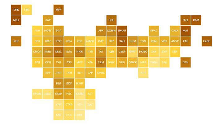 Рейтинг регионов по вкладам населения – 2020