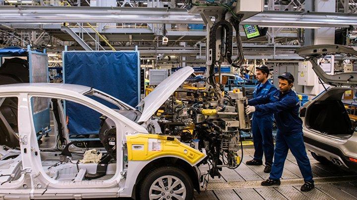 Производство автомобилей на заводе Hyundai